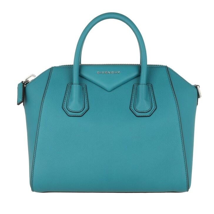 Handtasche, Givenchy, Antigona Small Tote Bag Teal Blue