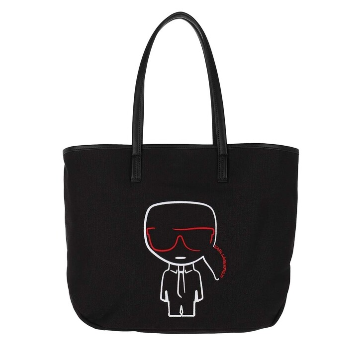 Handtasche, Karl Lagerfeld, K/Ikonik Canvas Shopper  Black