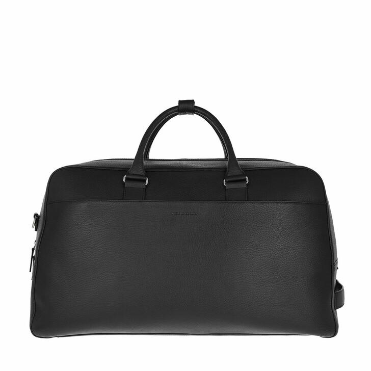 bags, Tiger of Sweden, Medium Leather Travel Bag Black
