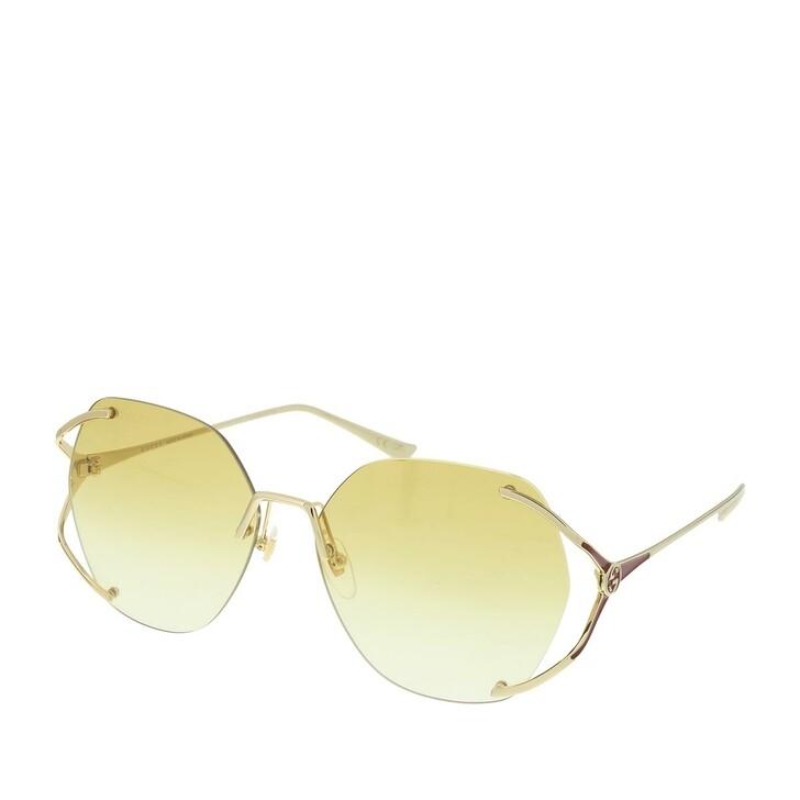 Sonnenbrille, Gucci, GG0651S-005 59 Sunglass WOMAN METAL Gold