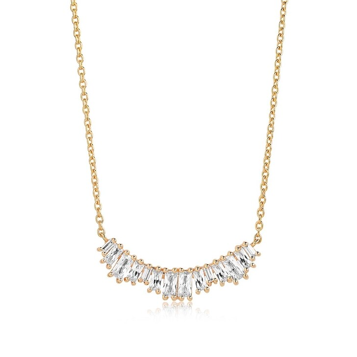 Kette, Sif Jakobs Jewellery, Antella Grande Necklace White Zirconia 18K Gold Plated