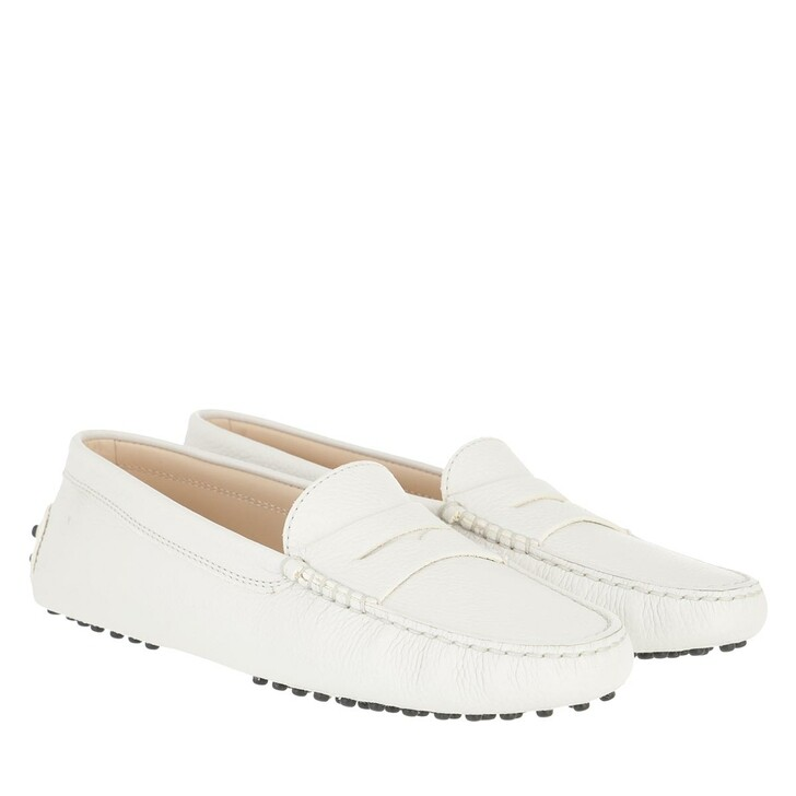 Schuh, Tod's, Moccassins Leather Lime White