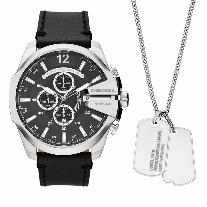 watches, Diesel, Men's Mega Chief Chronograph Stainless Steel Watch Black
