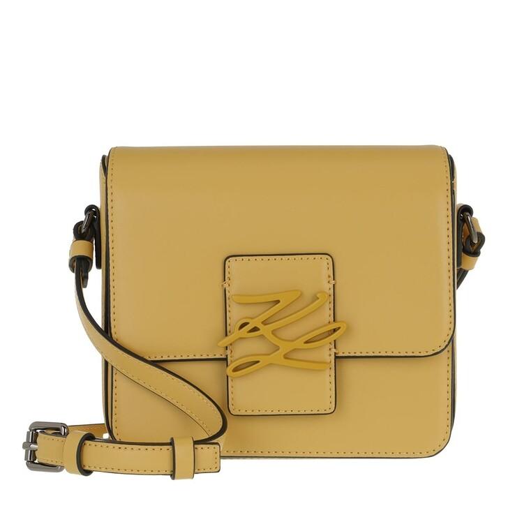 bags, Karl Lagerfeld, Autograph Crossbody Ochre