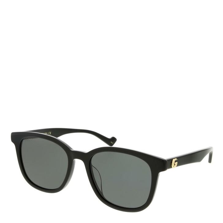 sunglasses, Gucci, GG1001SK-001 55 Sunglass Woman Acetate Black-Black-Grey