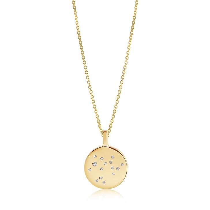 Kette, Sif Jakobs Jewellery, Zodiaco Sagitarius Pendant White Zirconia 18K Gold Plated