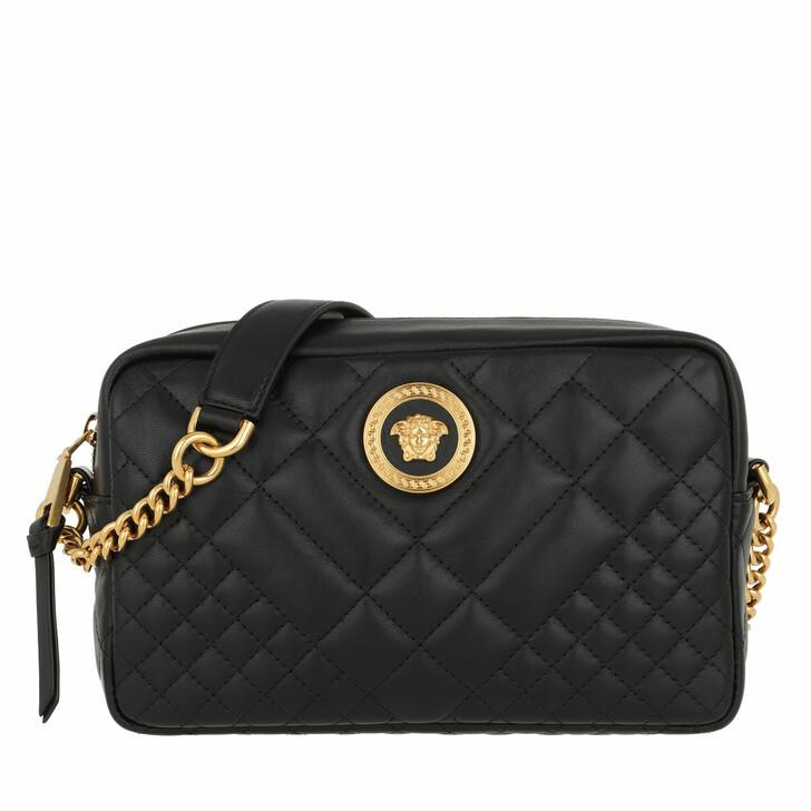 Handtasche, Versace, Quilted Crossbody Bag Nero/Oro