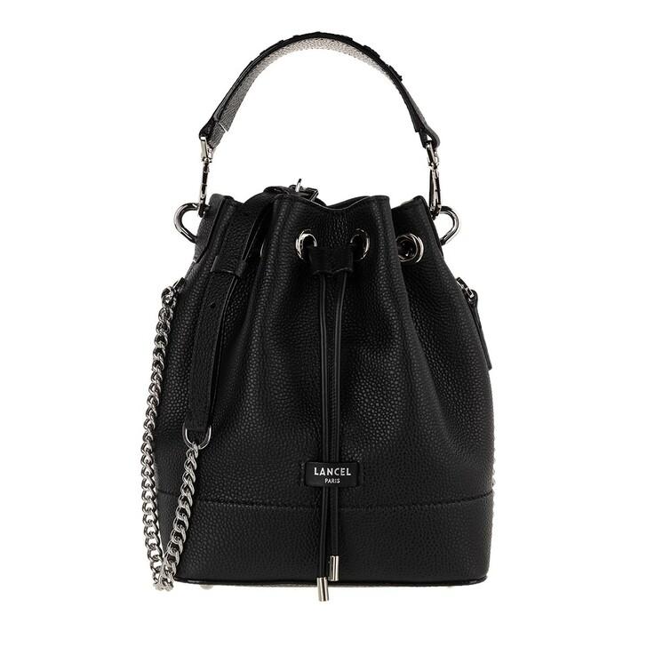 Handtasche, Lancel, Ninon Grained Leather Bucket Bag Mini Black