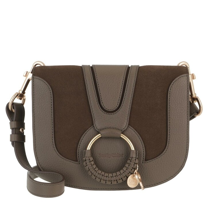 bags, See By Chloé, Hana Crossbody Suede Smooth Moss