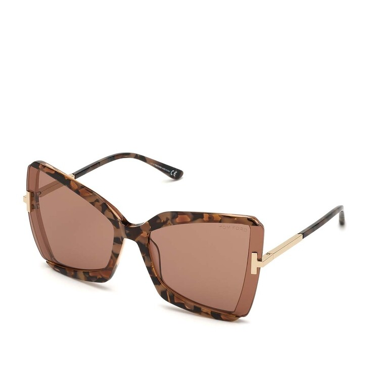 Sonnenbrille, Tom Ford, Women Sunglasses FT0766 Havanna/Violet