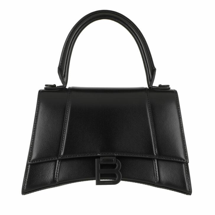 Handtasche, Balenciaga, Hourglass Handle Bag Black