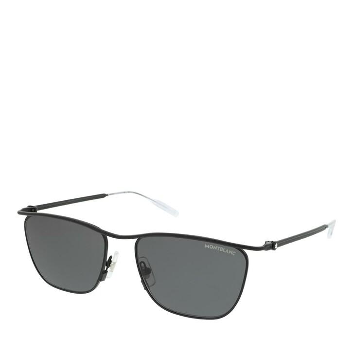 Sonnenbrille, Montblanc, MB0167S-001 55 Sunglass MAN METAL BLACK