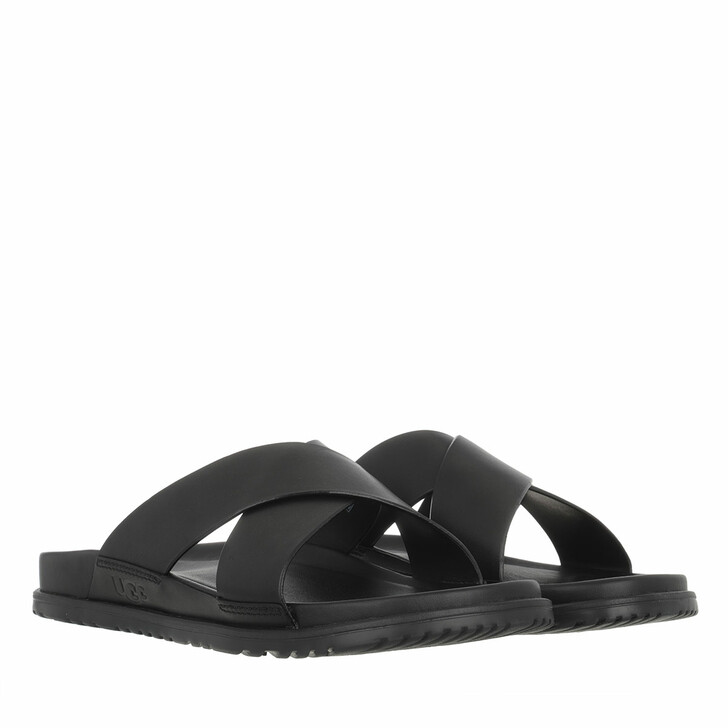 Schuh, UGG, Men Wainscott Slide Sandal Leather Black