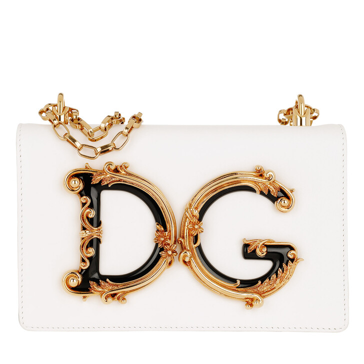 Handtasche, Dolce&Gabbana, DG Girls Crossbody Bag Bianco