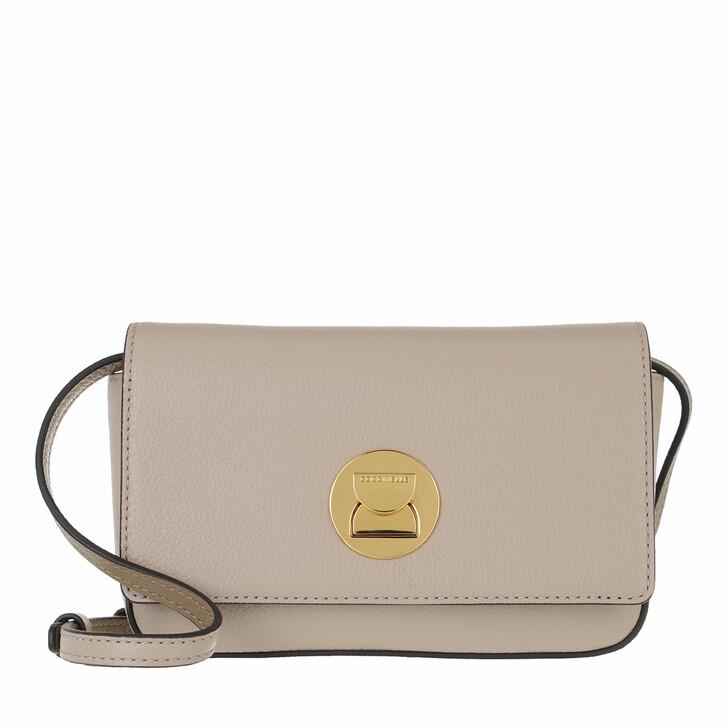 bags, Coccinelle, Mini Bag Bottalatino Leather Powder Pi/Taupe
