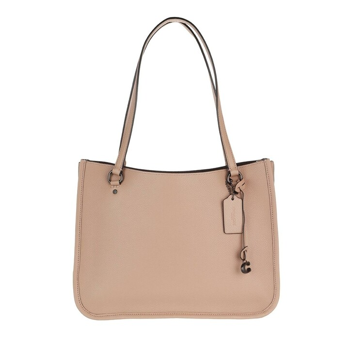 Handtasche, Coach, Polished Pebble Leather Tyler Carryall Taupe