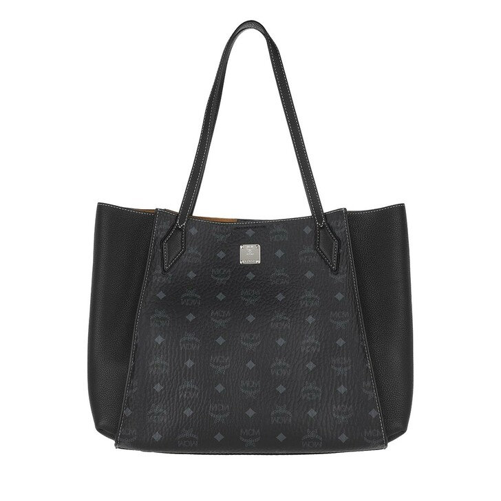 Handtasche, MCM, Luisa Visetos Medium Shopper Black