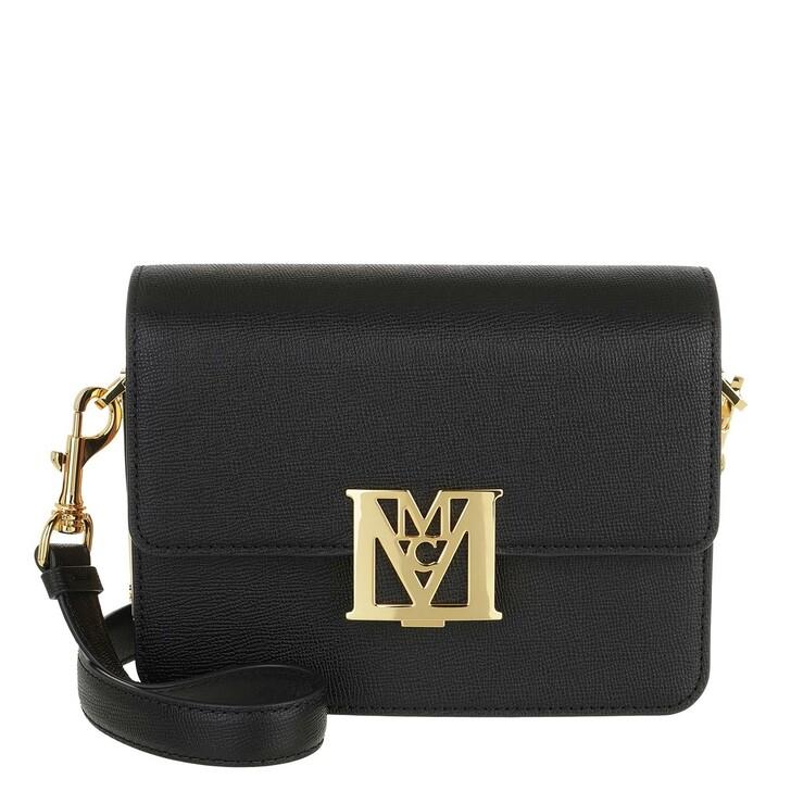 Handtasche, MCM, Mena Visetos Leather Block Shoulder Bag Mini Black