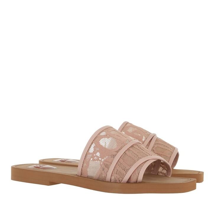 shoes, Chloé, Woody Canvas Logo Sandals