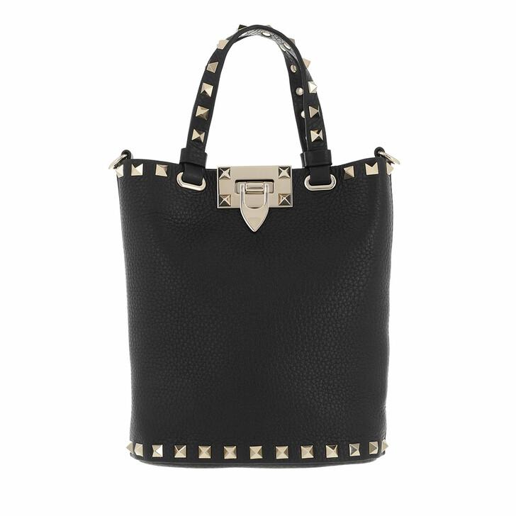 bags, Valentino Garavani, Rockstud Pouch Black
