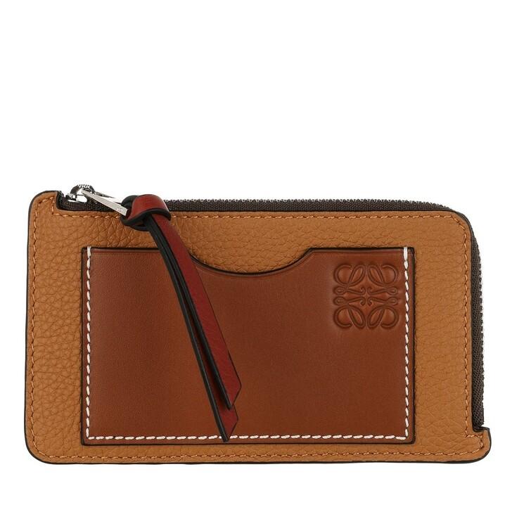 wallets, Loewe, Coin And Card Holder Calfskin Light Caramel