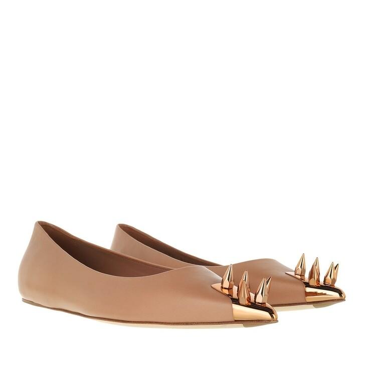 shoes, Alexander McQueen, Flat Ballet Shoes Copper