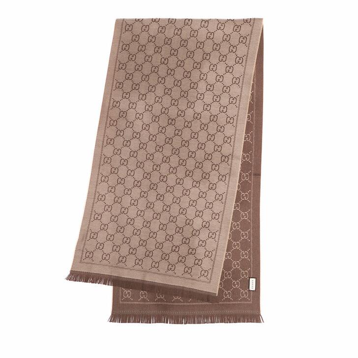 scarves, Gucci, Scarf Sten Beige Ebony
