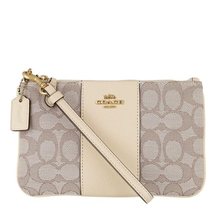 bags, Coach, Signature Jacquard Small Wristlet B4/Stone Ivory