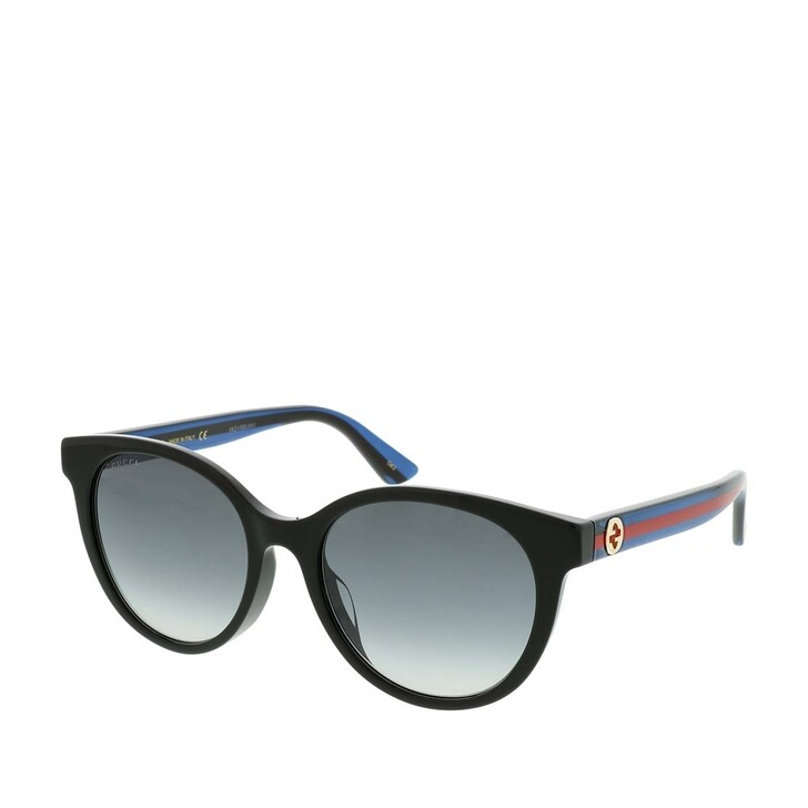 Sonnenbrille, Gucci, GG0702SK-002 54 Sunglasses Black-Blue-Grey