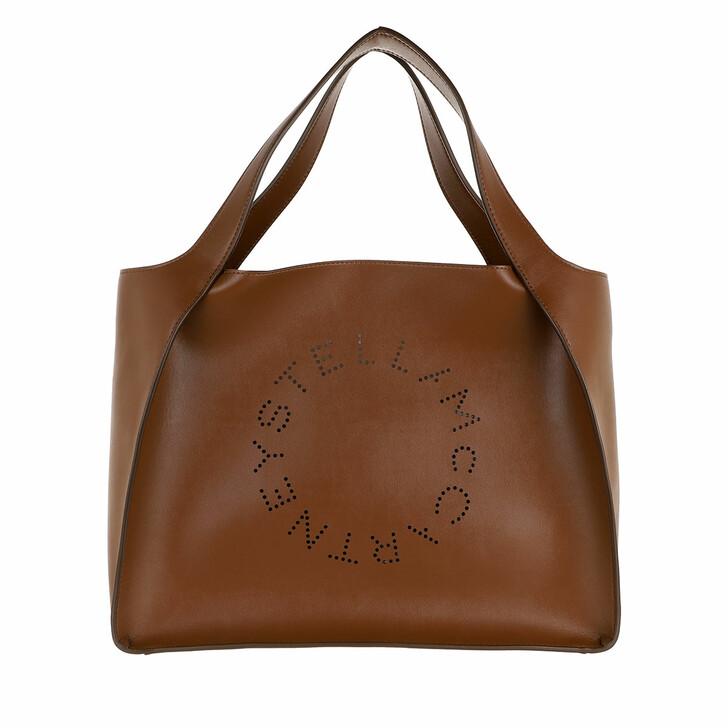Handtasche, Stella McCartney, Logo Tote Bag Leather Cinnamon