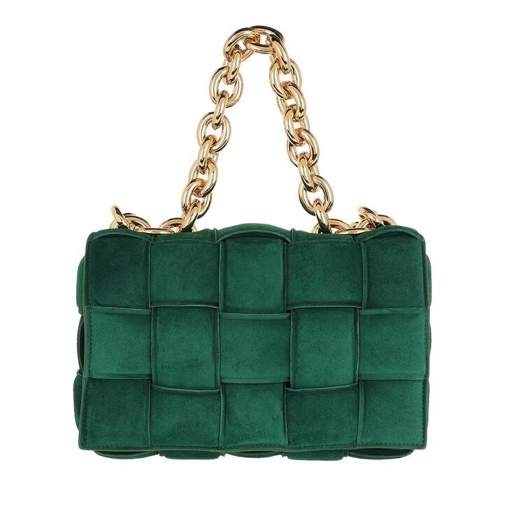 bags, Bottega Veneta, The Chain Cassete Shoulder Bag Emerald Green