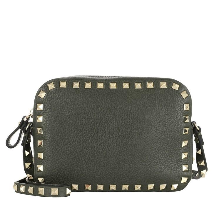 Handtasche, Valentino Garavani, Rockstud Camera Crossbody Bag Khaki