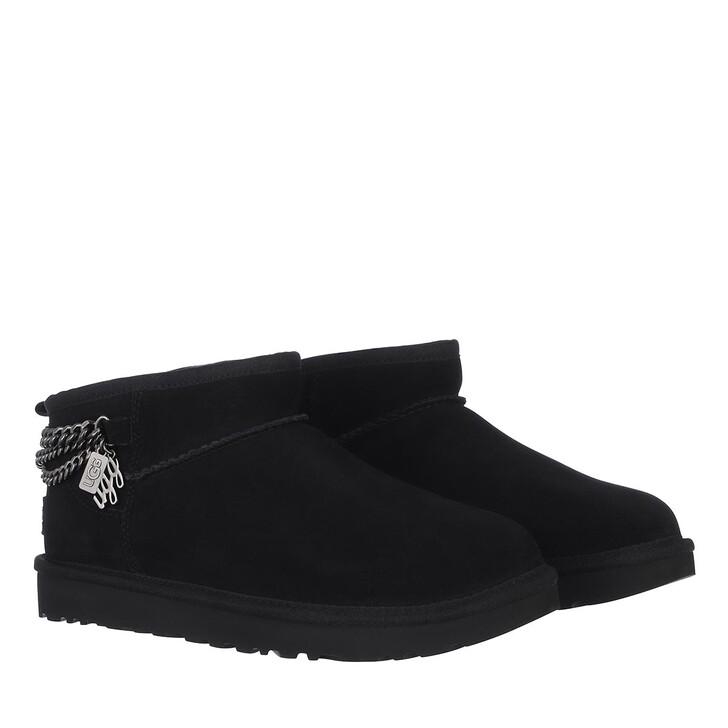 Schuh, UGG, Classic Ultra Mini Chains Classic Boot Black