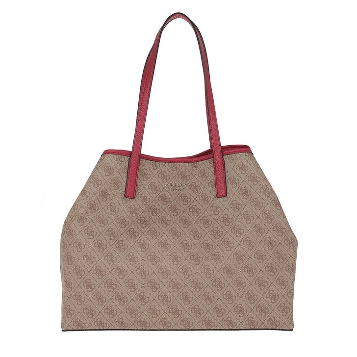 Handtasche, Guess, Vikky Large Tote Brown