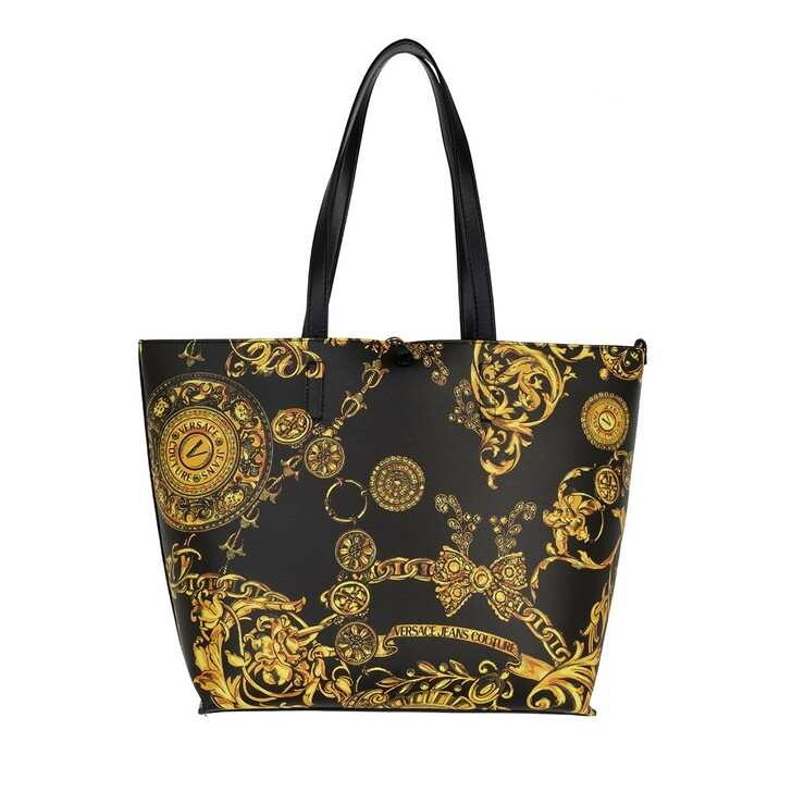 bags, Versace Jeans Couture, Shopping Bag Black/Gold