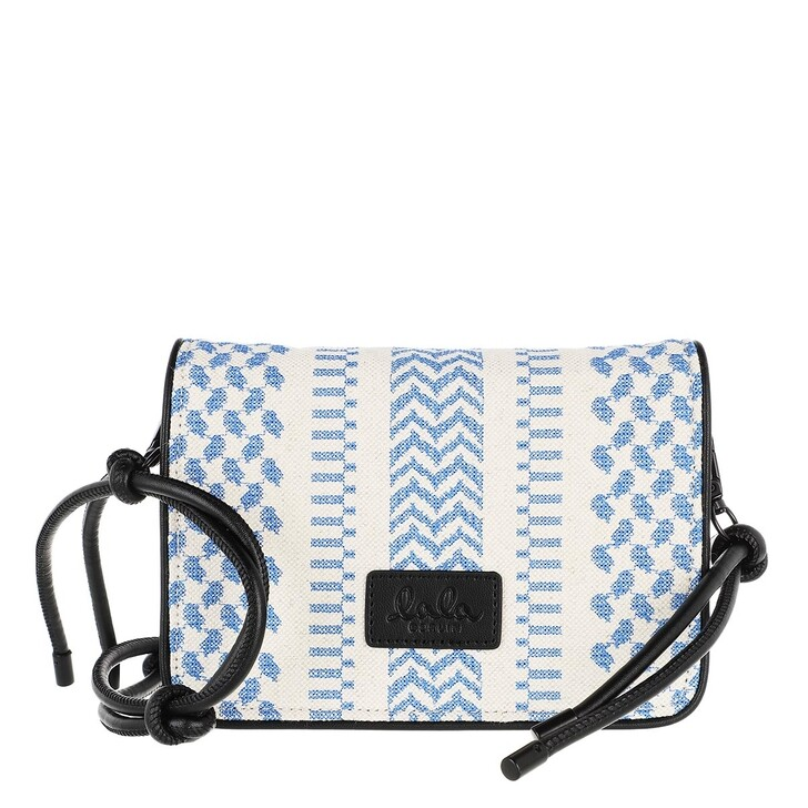 Handtasche, Lala Berlin, Crossbody Eline X-Stitch Palace Blue