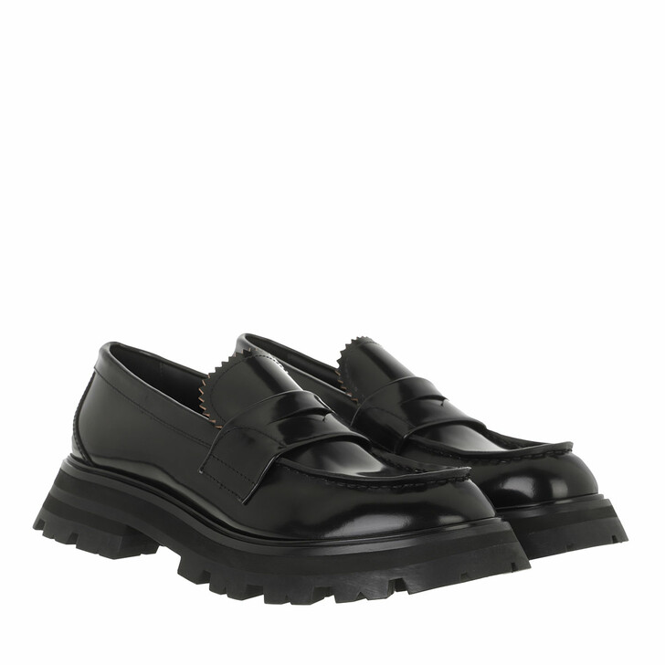 shoes, Alexander McQueen, Wander Loafers Leather Black