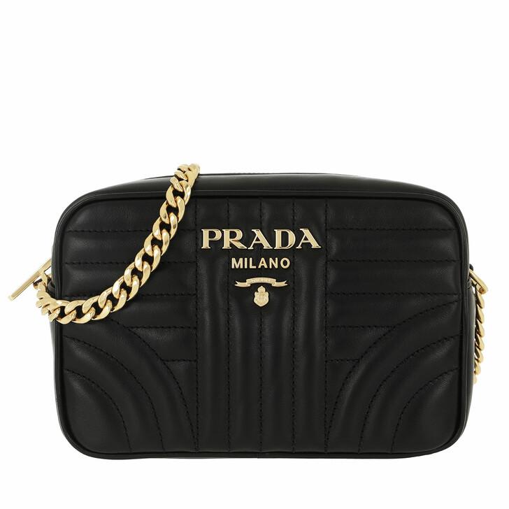 Handtasche, Prada, Diagramme Crossbody Bag Leather Black