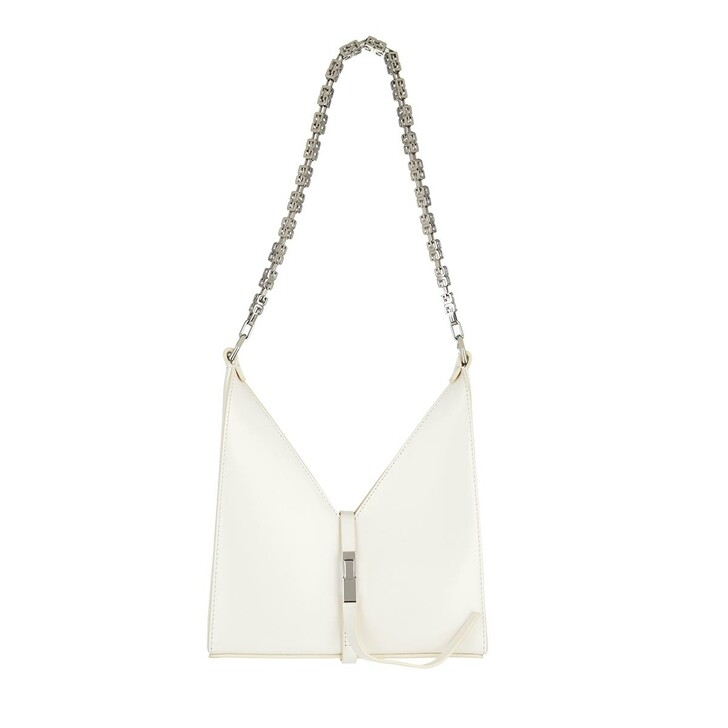 bags, Givenchy, Mini Chain Cut Out Bag Leather Ivory