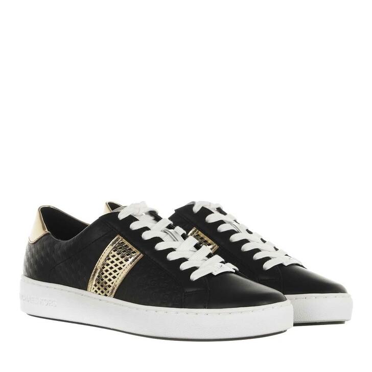 Schuh, MICHAEL Michael Kors, Irving Stripe Lace Up Sneakers Black
