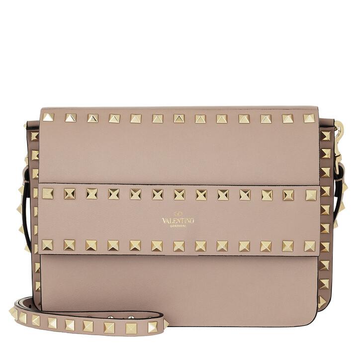 Handtasche, Valentino, Rockstud Crossbody Bag Small Poudre