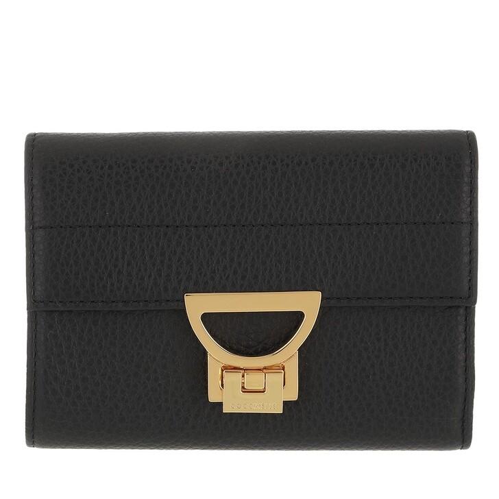 wallets, Coccinelle, Arlettis Wallet Grainy Leather  Noir