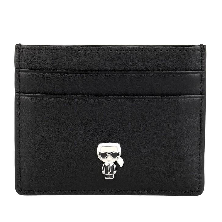 wallets, Karl Lagerfeld, Ikonik Pin Cardholder Wallet Black