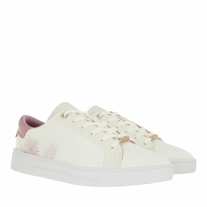 Schuh, Ted Baker, Delylas Serendipity Satin Trainer White