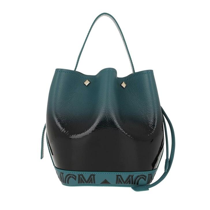 Handtasche, MCM, Milano Patent Drawstring Bag Mini Black Gradient