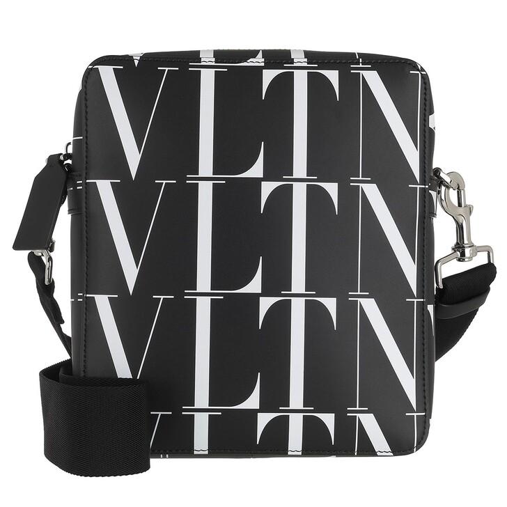 Handtasche, Valentino Garavani, Small VLTN Times Crossbody Bag Black/White