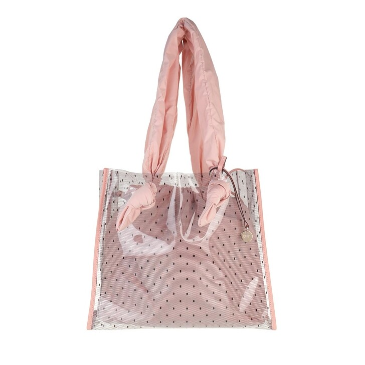 bags, Red Valentino, Tote Transparent Black/Nude