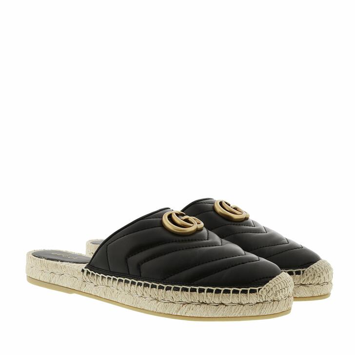 Schuh, Gucci, Double G Espadrilles Leather Black