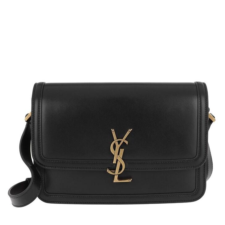 Handtasche, Saint Laurent, Medium Messenger Lock Bag Ultracalf Soft Nero