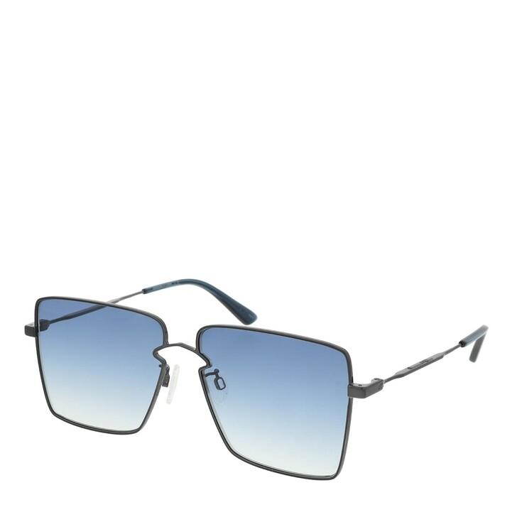 Sonnenbrille, McQ, MQ0268S-003 59 Sunglasses Ruthenium-Ruthenium-Blue